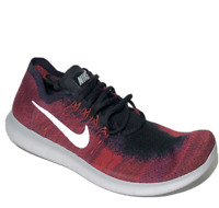 Nike Free RN Flyknit 2017 Mens Running Shoes 11.5 Black Red 880843-006
