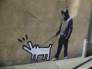 Banksy Dog Barking Dog Cartoon Hoodie Wall A3 Photo Print Poster