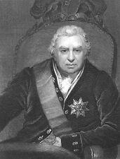 Explorer w/ James Cook SIR JOSEPH BANKS KEW GARDENS ~ 1833 Art Print Engraving