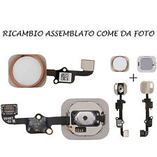 TASTO HOME NERO PULSANTE CENTRALE + FLAT FLEX PER APPLE IPHONE 6S PLUS GOLD