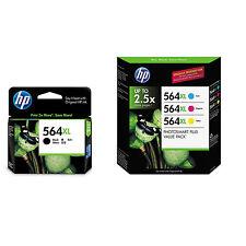 4 Color Set Genuine HP 564XL B,C,M,Y Ink Photosmart D5463 D5468 D7500 D7560