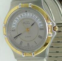 KOHA Herren-Armbanduhr mit Datum / Quarz / Edelstahl