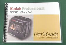 Kodak DCS Pro Back 645 Instruction Manual: Full Color with Protective Covers!