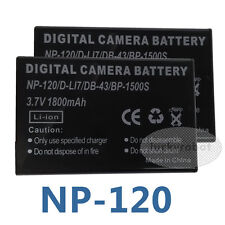 Two Camera Battery For Fuji NP-120 Toshiba Camileo A35 X100, X-100, H30 H-30