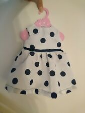 Handmade fashion Dress To fit Baby Born Doll Babyborn Polkadot boutique