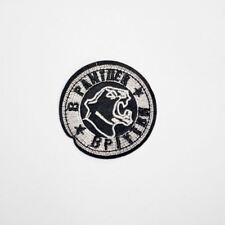 Panther Round Badge (Iron On) Embroidery Applique Patch Sew Iron Badge