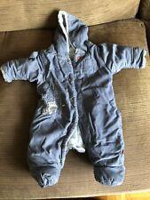 Newborn Blue M&S Snowsuit.