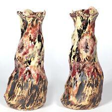 "Skulptur Vase ""Höhle Lascaux"" 17cm v5 Unikat Keramik Andreas Loeschner-Gornau"