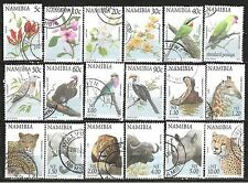 NAMIBIA 1997 FAUNA & FLORA DEFINITIVE COMPLETE POSTAL USED SET 0338PKT