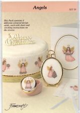 """Framecraft  Christmas Designs Pack of 4 """"Angels"""" Chart Only"""