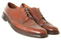 Florsheim Imperial Vtg Brown Leather V-Cleat Wingtip Dress Oxford Men's US 11C