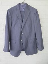 BANANA REPUBLIC MODERN FIT NAVY BLUE STRIPED SUIT SIZE 40R PANTS 35 X 30