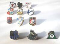 Football Badges 12 Pins European Clubs Teams  Vintage Retro Europe Englland UK