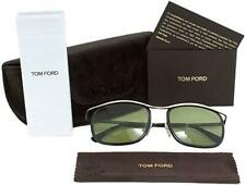 Tom Ford Marcello 0419 05N Black & Gold Sunglasses Sonnenbrille Green Lens 53mm