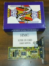 Vintage HMC ISA Card for 286/386/486 PC's Super Multi I/O HMC741 NEW IN BOX ibm