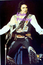 ELVIS PRESLEY GYPSY SUIT UNIONDALE NY 7/19/75 ORIGINAL OLD KODAK PHOTO CANDID D
