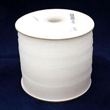 100% Polyester Horsehair Mesh Braid Boning, Crinoline,1 In, 72 Yd White, Soft