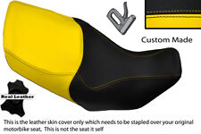 YELLOW & BLACK CUSTOM FITS HONDA XL 1000 V VARADERO 99-07 DUAL SEAT COVER