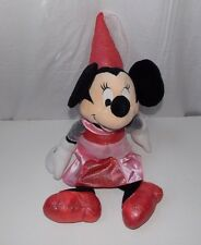Disney Store Princess Minnie Mouse Plush Stuffed Doll Toy Red Pink Lovey