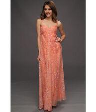 LAUNDRY BY SHELLI SEGAL SNOW LEOPARD CASCADE DRESS MELON Retail: $325.00