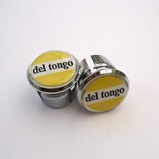 Style vintage DEL TONGO célèbre équipe de course chrome Racing bar plug, casquettes, repro