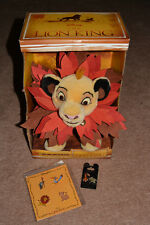 Disney Store The Lion King Limited Edition Simba Plush Booster Scar Hyena Pins