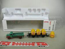 AM296-0,5# Märklin H0/AC Set Museum 2006: Güterwagen DB NEM KK+MAN-LKW, NEUW+OVP