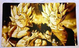 Dragon Ball Z Gogeta Vegito Goku Vegeta Playmat 14x24 Inch TCG CCG DBZ Game Mat