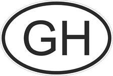 Adesivo adesivi sticker codice auto moto ritagliato nazioni ovale GHANA