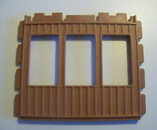 PLAYMOBIL (B619) GARE COLORADO SPRING 3770 - Mur Marron 3 Ouvertures Fenêtres