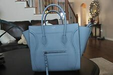 NWT Celine Baby Blue Phantom Luggage Grained Leather Tote Bag - SPRING NEW COLOR