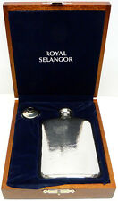 Royal Selangor 4oz Pewter Hip Flask in Deluxe Wooden Gift Box withFree Engraving