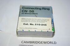 GENUINE ORIGINAL MAMIYA CONNECTING RING CN-58 for MAMIYA 645 CAMERA in BOX