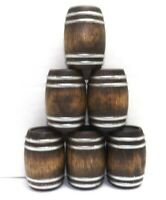 G SCALE WHISKEY BARRELS WINE BARRELS 1/24 DIORAMA MODEL TRAIN CARGO SET OF 6