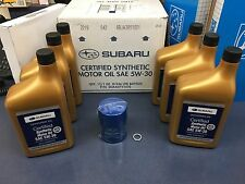 Genuine SUBARU Oil Change Kit Filter Gasket 6 Qts Synthetic 5W30 Forester Turbo