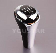 Luxury 5 Speed Manual Gear Shift Knob for BMW BRIGHT CHROME MATTE BLACK