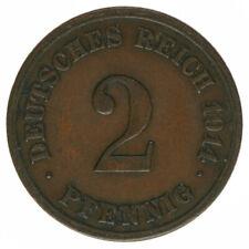 Deutsches Reich, 2 Pfennig 1914E, A14562