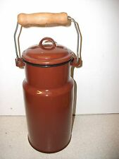 Lovely Vintage MADE IN POLAND Enamel Milk Can Carrier Kitchenalia EX Condition!!