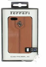 Ferrari Real Leather Snap-on Hard Case for Apple iPhone 5/5s