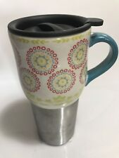 Prototype Pioneer Woman Hyacinth 18.5oz Travel Mug  Stainless Steel Tumbler
