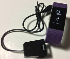 Fitbit Charge 2 Purple (Small) Cracked Screen Work Great Free Return Shipping