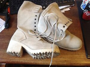 Suede Calf Boots - Very Little Wear - Lovely boots - Biege