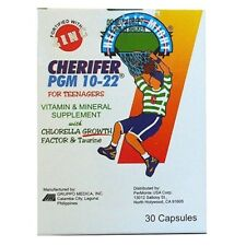 30 CAPSULES (1 BOX) CHERIFER PGM 10-22 Food Supplement Zinc Dietary