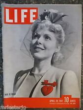 Life Magazine April 28,1941 Red Is Right VINTAGE ADS Nazi's Attack Yugoslavia