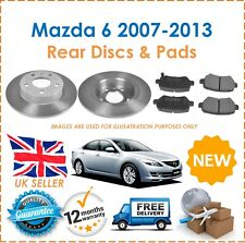 For Mazda 6 2007-2013 Two Rear Solid 280MM Brake Discs & Brake Pads Set New