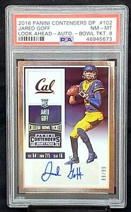2016 Panini Contenders AUTO Rams JARED GOFF Rookie Card /99 PSA 8 NM-MT Pop 8
