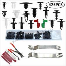 425 Pcs Car Vehicle Bumper Roof Door Panel Fastener Clips+6*Removal Tool Kit Set