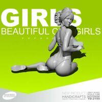 1/35 Beach beauty Girl soldat Résine maquette 55 mm