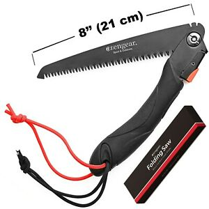 Folding Camping Pruning Hand Saw for Bushcraft - Outdoor - Garden - DIY Paracord