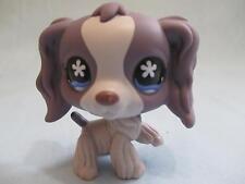 Littlest Pet Shop #672 Purple & Grey Cream Cocker Spaniel Dog 100% Authentic